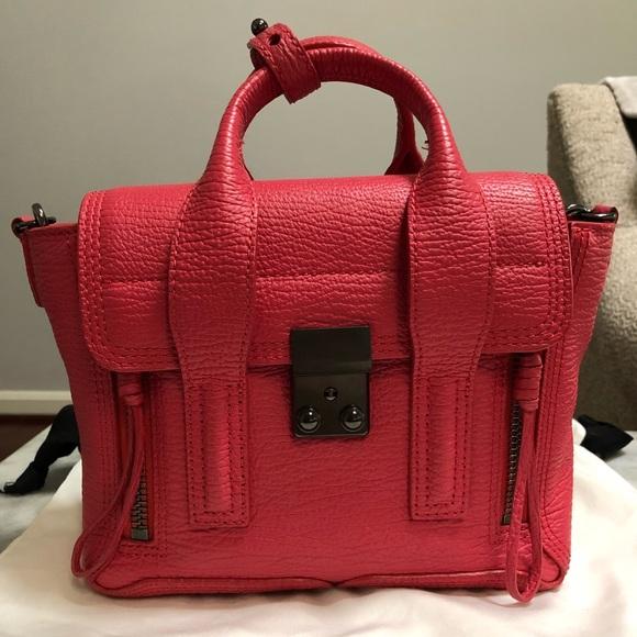 8d521eae1f9 3.1 Philip Lim Pashli mini satchel bag, raspberry